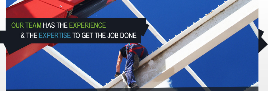banner image - our team - man working at height